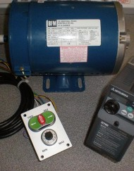 Union Jubilee Speed control package, 1.0HP, with 60x100mm Switch plate and Metric Motor.